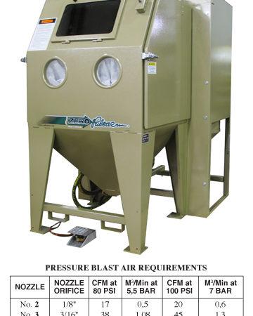 Pulsar III-P Pressure Blast Cabinet