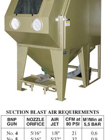 Pulsar III-SE Suction Blast Cabinet