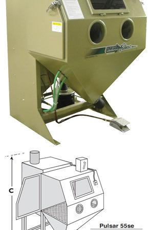 Pulsar 55se Suction Blast Cabinet