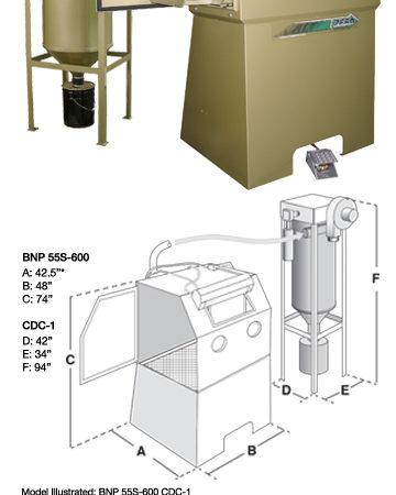 BNP 55 Suction Blast Cabinet